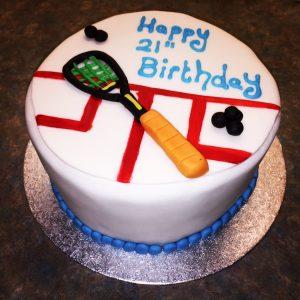 Bespoke Tennis Birthday Cake