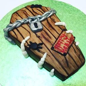 Bespoke Halloween Coffin Cake